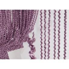 Шторы нити однотонные объемные фиолетовые