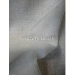 Тюль элитный лен мешковина белая