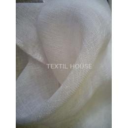 Тюль лен мешковина кремового цвета