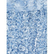 Шторы нити объемные однотонные голубые