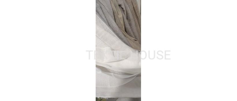 Тюль лен уплотненный на отрез Турция