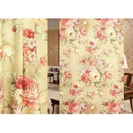 Ткань для штор димаут цветы WBK3909-2/280