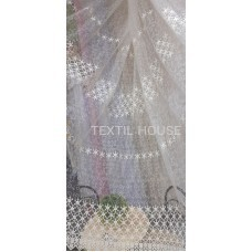 Тюль вышивка кремовая в зал