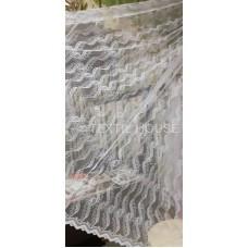 Тюль вышивка белая Валенсия