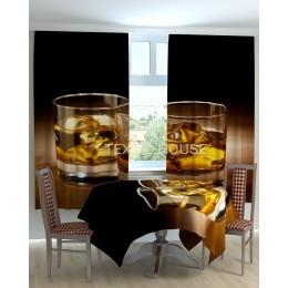 Фотошторы и скатерть на кухню  Виски