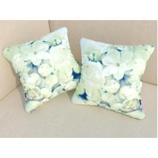 ФотоПодушка Белые цветы
