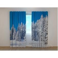 Фотоштора Зимний лес
