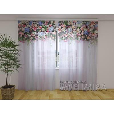 ФотоТюль Ламбрекены из цветов Фантазия