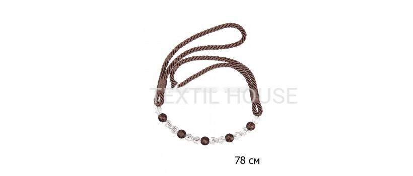 Кисти для штор с бусинками Элегант коричневые №46