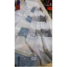 Гардина лен с полосочками на отрез производство Турции