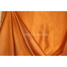 Ткань для штор однотонная оранжевая сатен