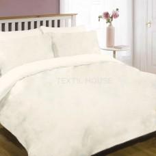 Комплект постельного белья ранфорс однотонный белый Вилюта