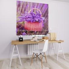 Римская штора  с фотопечатью Корзина цветов