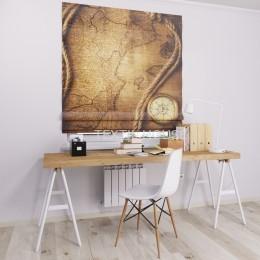 Римская штора  с фотопечатью Карта и компас