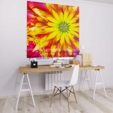 Римская штора  с фотопечатью Цветок