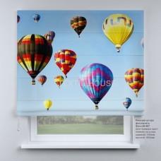 Римская штора Воздушные  шары
