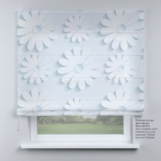 Римская штора Цветочная абстракция