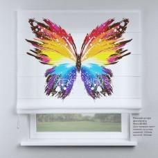 Римская штора Бабочка акварелью