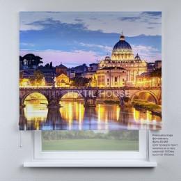 Римская штора Вечерний город