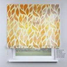 Римская штора  Золотистые листья