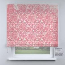 Римская штора  Розовый принт