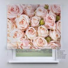 Римская штора  Бутоны роз