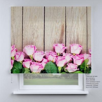 Римская штора Нежные розы