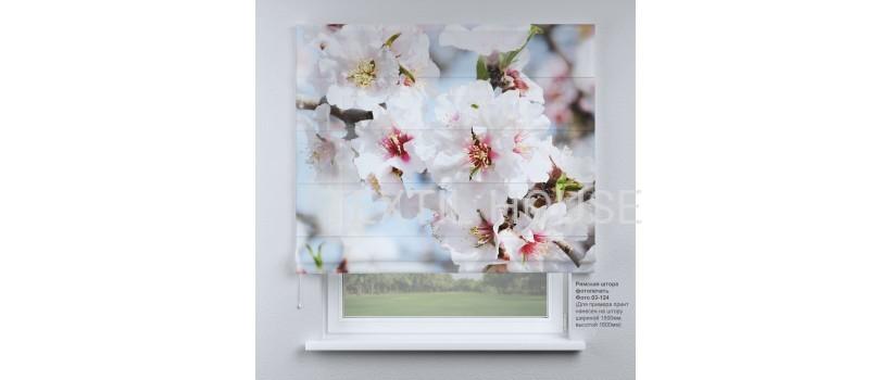 Римская штора Цветение яблони