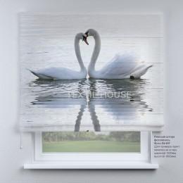 Римская штора Лебеди