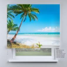 Римская штора Райские пальмы