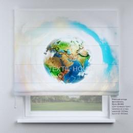 Римская штора Планета Земля