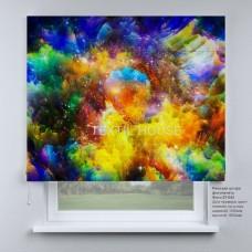 Римская штора Разноцветная палитра