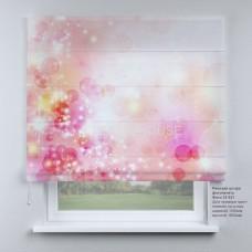 Римская штора Розовая абстракция