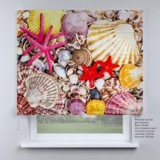 Римская штора Морские ракушки