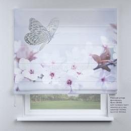 Римская штора  Бабочки весной