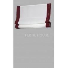 Римская штора из однотонной ткани лен с кантами ш.0,40 см