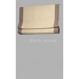 Римская штора лен с кантами ш. 50 см