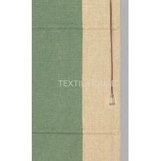 Римская штора из однотонной ткани лен с вставками ширина 50 см