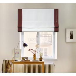Римская штора лен с кантами ш. 40 см