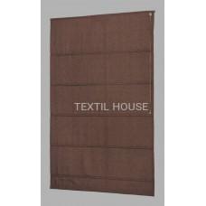 Римская штора из однотонной ткани лен ширина 1,80 м