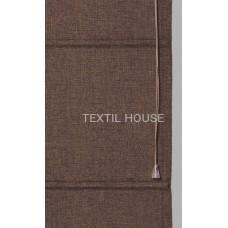 Римская штора из однотонной ткани лен ширина 90 см