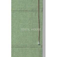 Римская штора из однотонной ткани лен ширина 1,00 м
