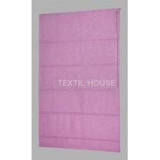 Римская штора из однотонной ткани лен ширина 2,40 м
