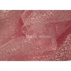 Тюль сетка розовая