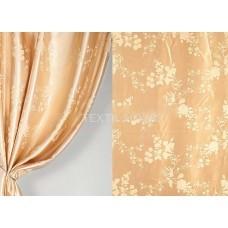 Ткань для штор сатен жаккард золото