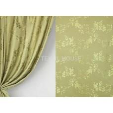 Ткань для штор сатен оливка T3709/280 PJak