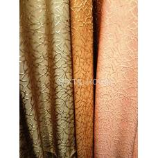 Ткань для штор персик  рельеф жаккард
