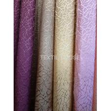 Ткань для штор розовая рельеф жаккард