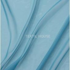 Шифон (вуаль) однотонный голубая бирюза  в. 300 см