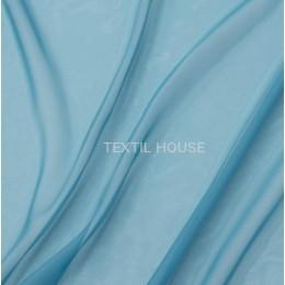 Тюль вуаль однотонная голубая бирюза